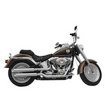 """Rush 3"""" Slip-On Mufflers For Harley Softail 2007-2017 2"""" Baffle / Chrome / Baloney Cut [Previously Installed]"""