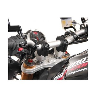 """SW-MOTECH 1 1/8"""" Handlebar Risers 20mm / Black [Previously Installed]"""