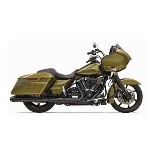 "Bassani Crossover Eliminator 2-Into-1 4"" Megaphone Slip-On Muffler For Harley Touring 2017-2018"