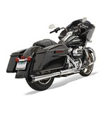 "Bassani Crossover Eliminator 2-Into-1 4"" Megaphone Slip-On Muffler For Harley Touring 2017"