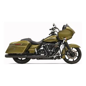 """Bassani Crossover Eliminator 2-Into-1 4"""" Straight Can Slip-On Muffler For Harley Touring 2017-2020"""