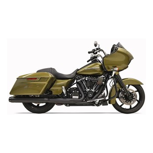 "Bassani Crossover Eliminator 2-Into-1 4"" Straight Can Slip-On Muffler For Harley Touring 2017"