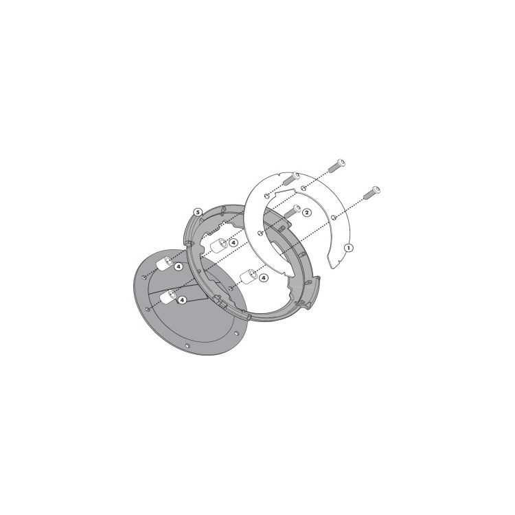 Givi Tanklock Bike Specific Flange BMW R1200GS / Adventure / R1200RT / R1250RT / R1250GS Adventure