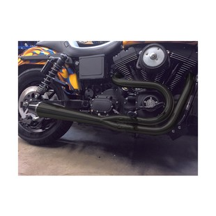 Sawicki Speed Shop 2-Into-1 Ceramic Exhaust For Harley Dyna 2006-2017