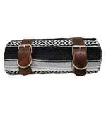 La Rosa Leather Bedroll Belts and Mexican Serape Blanket