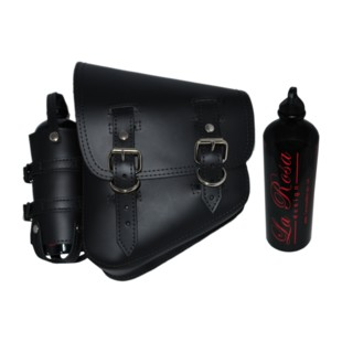 La Rosa Solo Bag With Fuel Bottle For Harley Rigid / Softail