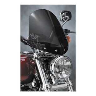 National Cycle Gladiator Windshield For Harley Sportster Custom 1996-2010 Dark Tint / Chrome [Previously Installed]