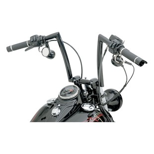 """Todd's Cycle 1 1/4"""" Strip Handlebars For Harley Springer 1988-2011 12"""" Rise / Chrome [Blemished - Very Good]"""