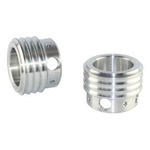 """Brass Balls Cycles Ribbed 1 3/4"""" Exhaust Tips"""