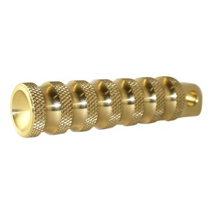 Brass Balls Cycles Ribbed Foot Pegs For Harley