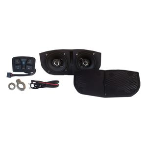 Metrix Audio By Hogtunes Bluetooth Amp Speaker Kit For Memphis Shades Batwing Fairings