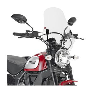 Givi 7407A / 7407AS Windscreen And Kit Ducati Scrambler 2015-2018