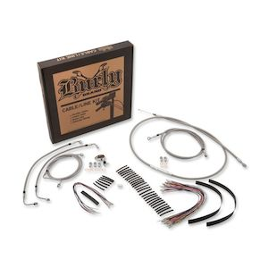 Burly Handlebar Cable Installation Kit For Harley Touring 2008-2013