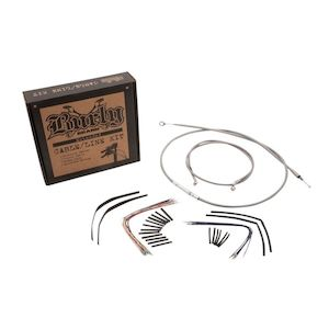 Burly Handlebar Cable Installation Kit For Harley Road King / Glide 2008-2013