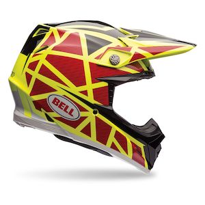 Bell Moto-9 Flex Strapped Helmet Yellow/Red / SM [Blemished - Very Good]