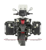 Givi Trekker Outback Case And Luggage Rack Kit Triumph Tiger 800 / XC / XR 2011-2017