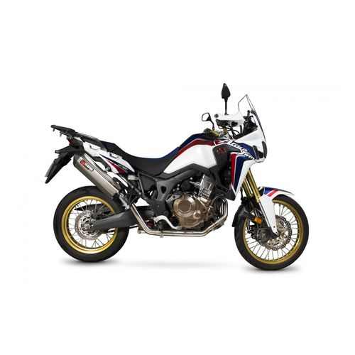 scorpion serket parallel exhaust system honda africa twin 2016 2017 revzilla. Black Bedroom Furniture Sets. Home Design Ideas