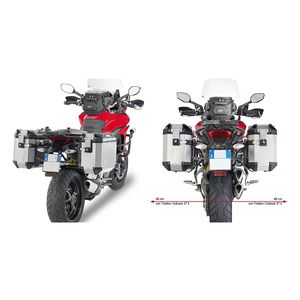 Givi PLR7406CAM Rapid Release Side Case Racks Ducati Multistrada S / 950 / Enduro 2015-2017