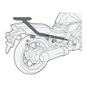 Givi 1131FZ Top Case Support Brackets Honda CTX700N 2014-2016