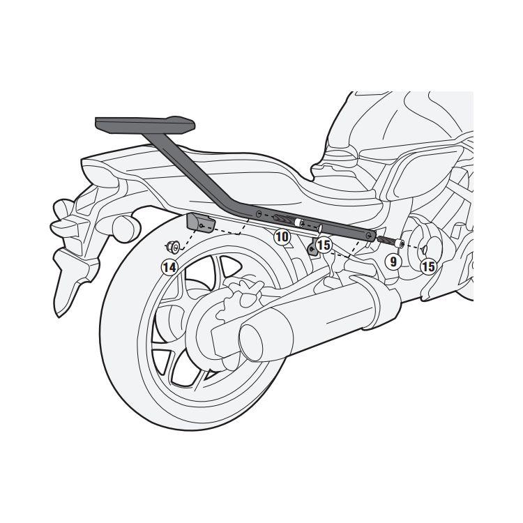 Givi 1131FZ Top Case Support Brackets Honda CTX700N 2014-2018