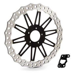 "Arlen Ness 14"" Jagged Offset Big Brake Front Rotor For Victory Octane 2017"