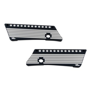 Ken's Factory Dimpled Saddlebag Latch Covers For Harley Touring 1993-2013