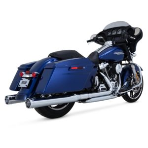 "Vance & Hines 4"" Monster Rounds Slip-On Mufflers For Harley Touring 2017-2018"