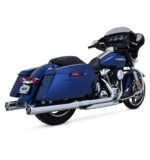"""Vance & Hines 4"""" Monster Rounds Slip-On Mufflers For Harley Touring 2017-2018"""