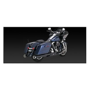 """Vance & Hines 4"""" Monster Rounds Slip-On Mufflers For Harley Touring"""