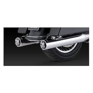 "Vance & Hines 4"" Monster Rounds Slip-On Mufflers For Harley Touring"