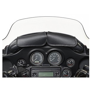 Willie & Max Two Pouch Windshield Bag For Harley Black [Previously Installed]