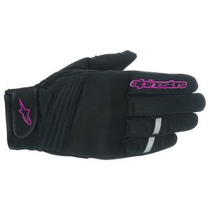 Alpinestars Stella Asama Air Gloves Black/Pink / XL [Demo - Good]