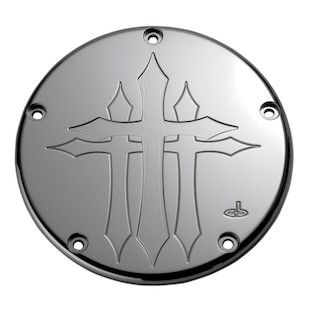 Carl Brouhard Cross Derby Cover For Harley Twin Cam 1999-2017 Chrome [Previously Installed]