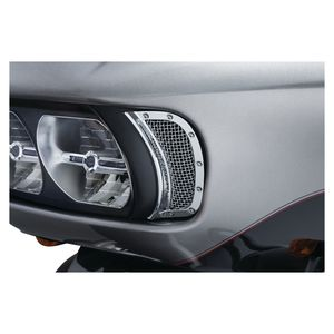 Kuryakyn Mesh Headlight Vent Accents For Harley Road Glide 2015-2019