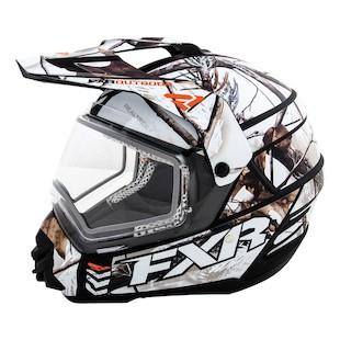 FXR Torque X Squadron Helmet - Electric Shield RealTree APHD Snow / XL [Open Box]