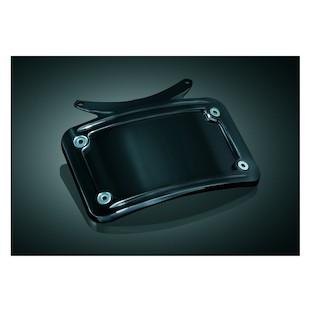 Kuryakyn Curved License Plate Frame For Kuryakyn Bullet Light Rear Turn Signal Bar Gloss Black [Blemished - Very Good]