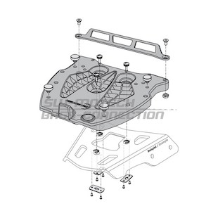 SW-MOTECH Alu-Rack Top Case Rack Adapter Plate Givi / Kappa Monolock [Previously Installed]