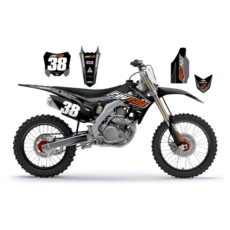 Factory Effex Complete RevZilla Graphics Kit Honda CRF250R / CRF450R 2013-2017