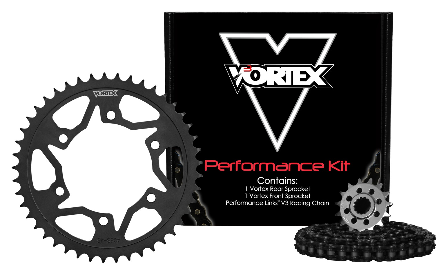 2000-2001 Honda CBR929RR O-Ring Chain and Sprocket Kit Red