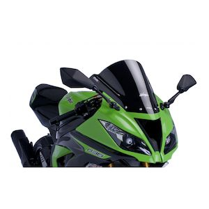Puig Racing Windscreen Kawasaki ZX6R / ZX636 / ZX10R Carbon [Previously Installed]