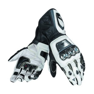 Dainese Full Metal D1 Gloves Black/White/Anthracite / LG [Demo - Good]