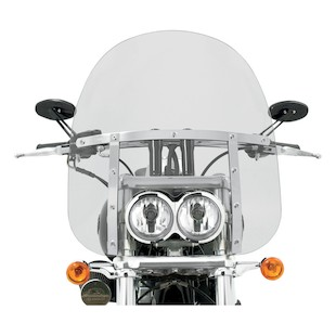 "Memphis Shades Memphis Fats Windshield For Harley Fat Bob 2008-2017 Clear / 17"" Tall [Blemished - Very Good]"