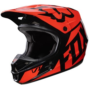 Fox Racing V1 Race Helmet Orange / 2XL [Blemished - Very Good]