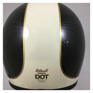 Biltwell Gringo Tracker Limited Edition Helmet White/Black/Gold / XS [Blemished - Very Good]
