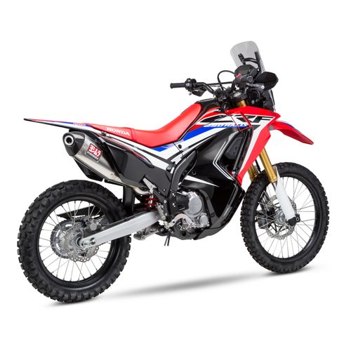 yoshimura rs 4 exhaust system honda crf250l rally 2017. Black Bedroom Furniture Sets. Home Design Ideas
