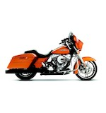 "Rinehart Slimline Duals Exhaust With 4"" Mufflers For Harley Touring"