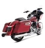 """Rinehart Slimline Duals Exhaust With 4 1/2"""" MotoPro 45 Mufflers For Harley Touring"""