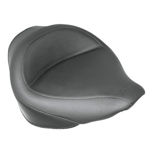 Mustang Wide Solo Seat For Harley Softail With 200mm Rear Tire 2006-2017 Black / Vintage Smooth [Previously Installed]