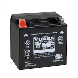 Yuasa YTX14H Factory Activated AGM High Performance Battery [Previously Installed]