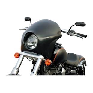 Russ Wernimont Cafe Fairing For Harley Dyna Wide Glide 2006-2017 Short / Black [Blemished - Very Good]